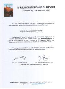 2017_11_Reunión Ibérica Glaucoma_Certif ponente de present